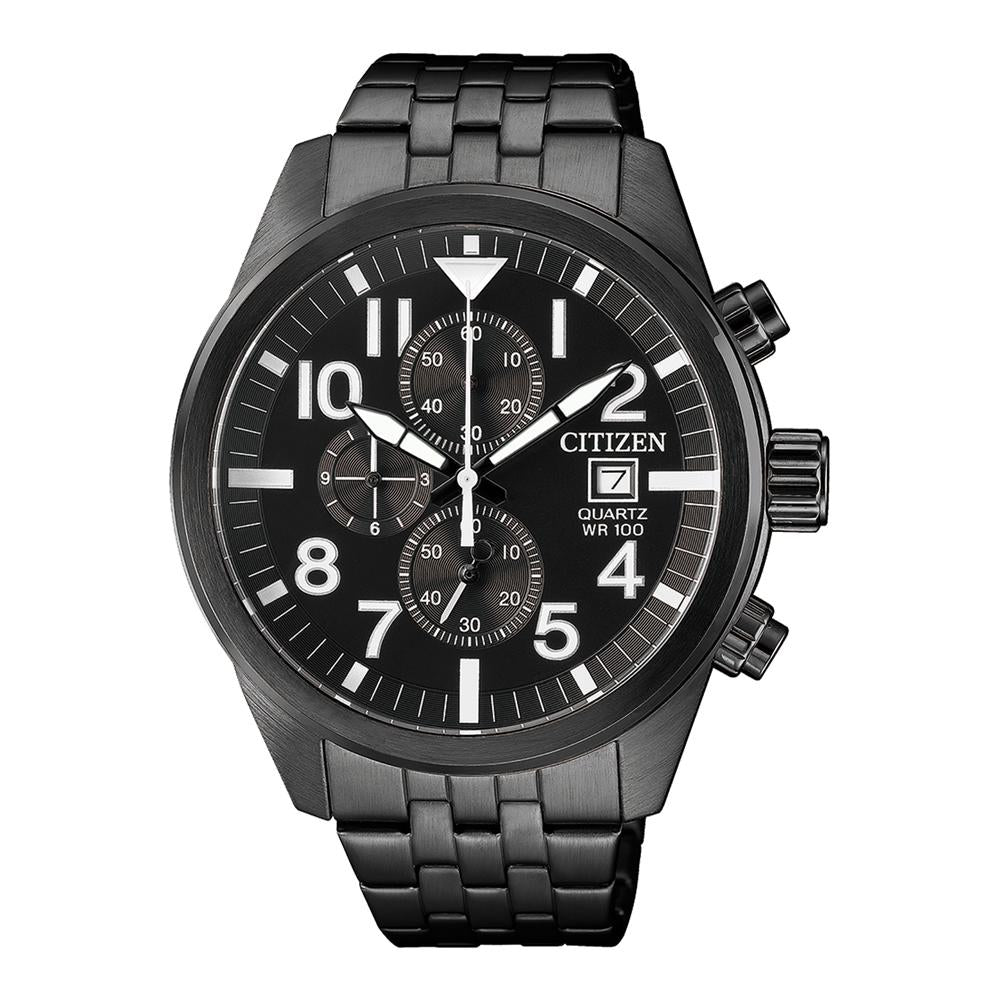 Citizen Black Steel Men's Chrono Watch - AN3625-58E