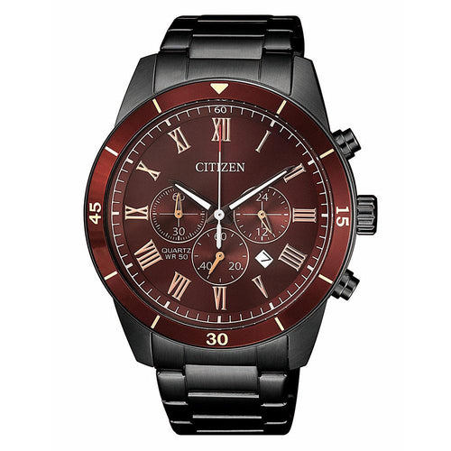 Citizen Black Steel Men's Watch - AN8167-53X