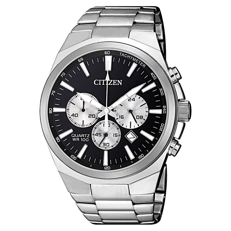 Citizen Gents White & Silver Stainless Steel Quartz Watch - AN8170-59E