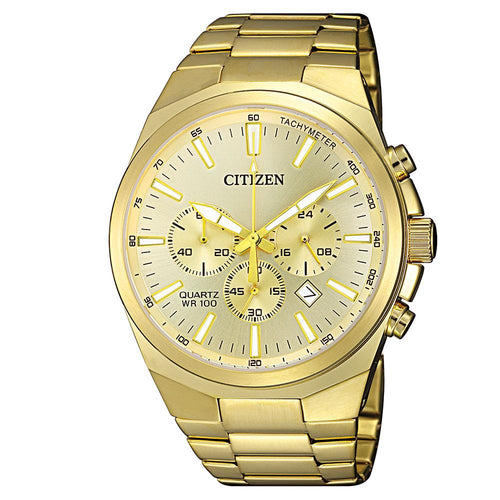 Citizen Gents Yellow & Gold Stainless Steel Quartz Watch - AN8172-53P