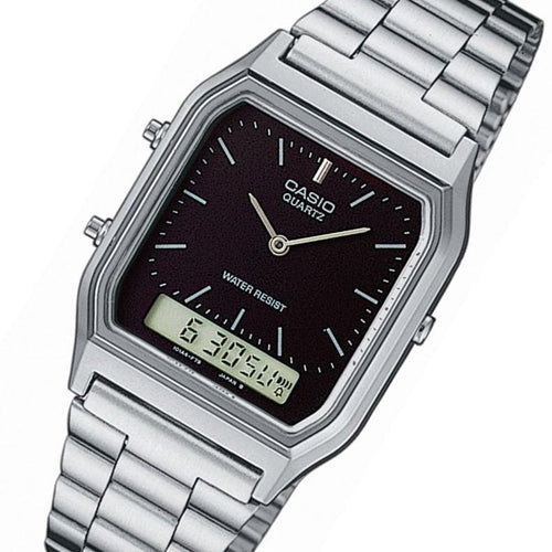Casio Classic Silver Digital Analog Ladies Watch - AQ230A-1DS