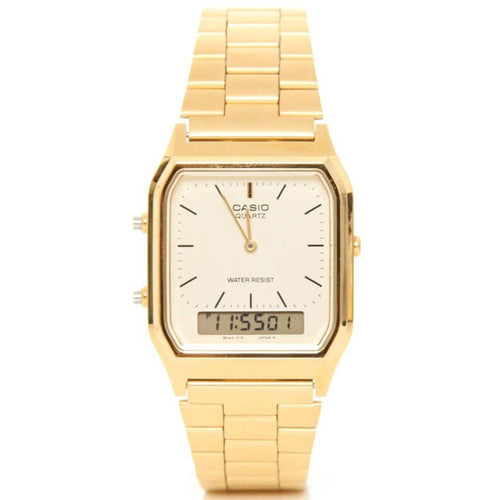 Casio Classic Gold Digital Analog Ladies Watch - AQ230GA-9DS