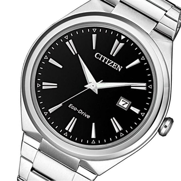 Citizen Gents Dress Eco-Drive Stainless Steel Watch - AW1370-51F