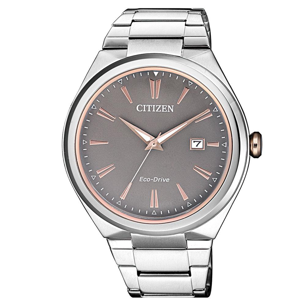 Citizen Gents Dress Eco-Drive Stainless Steel Watch - AW1376-55H