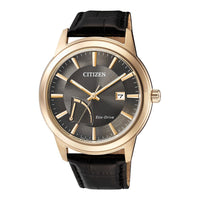 Citizen Black Leather Men's Eco-Drive Watch - AW7013-05H