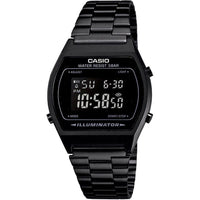 Casio Classic Black Stainless Steel Alarm Watch - B640WB-1B