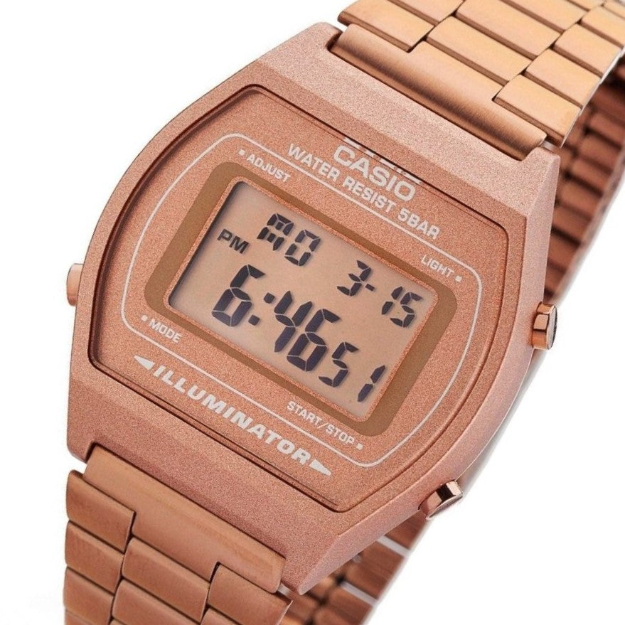 Casio Classic Digital Rose Gold Alarm Watch - B640WC-5AD