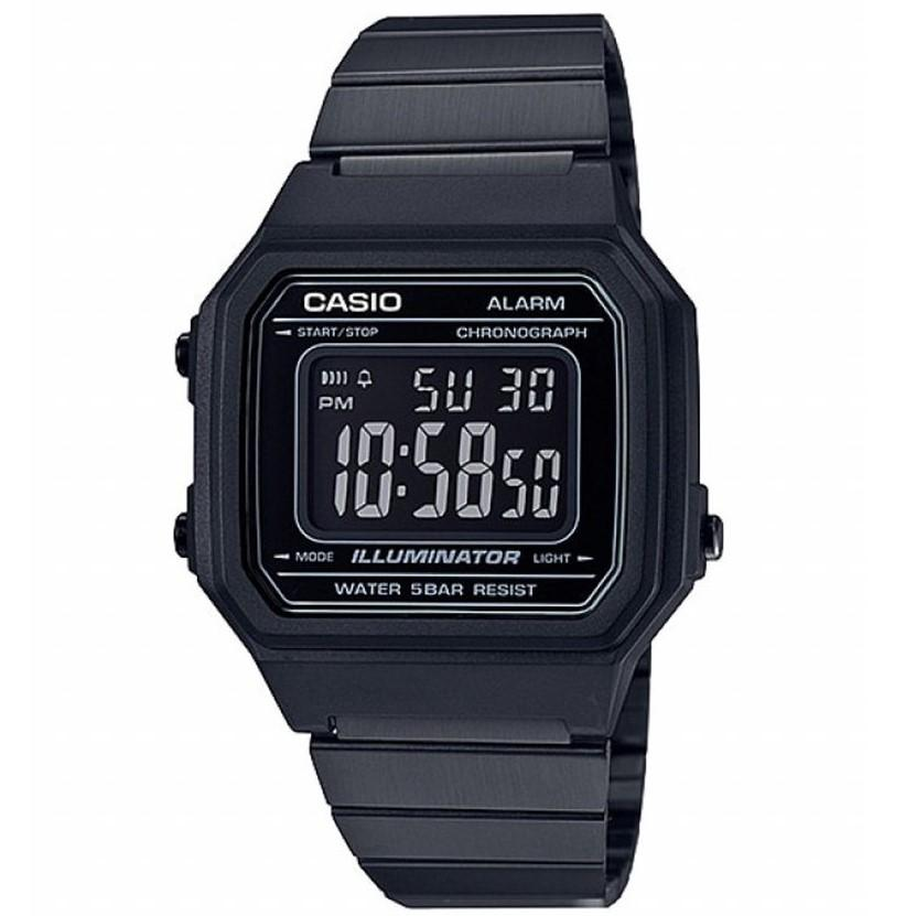 Casio Vintage Men's Digital Stainless Steel Watch - B650WB-1B