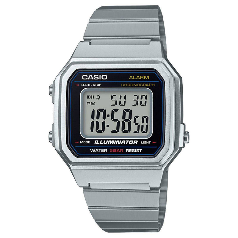 Casio Vintage Men's Digital Stainless Steel Watch - B650WD-1A