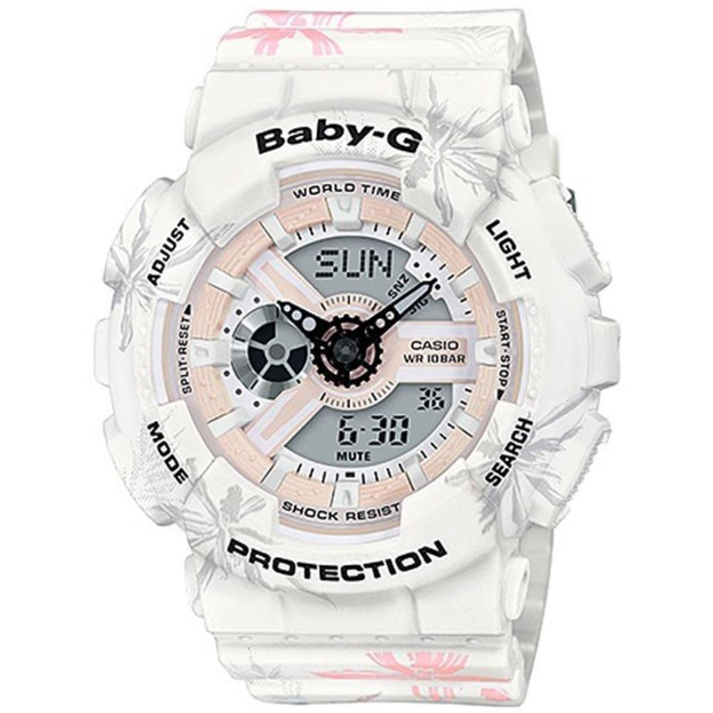 Casio Baby G Ladies Floral Digital Watch - BA110CF-7A