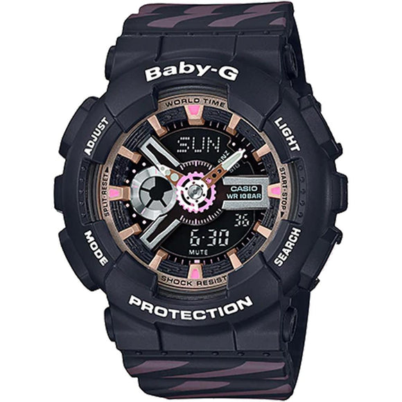 Casio Baby G Ladies Black Digital Watch - BA110CH-1A