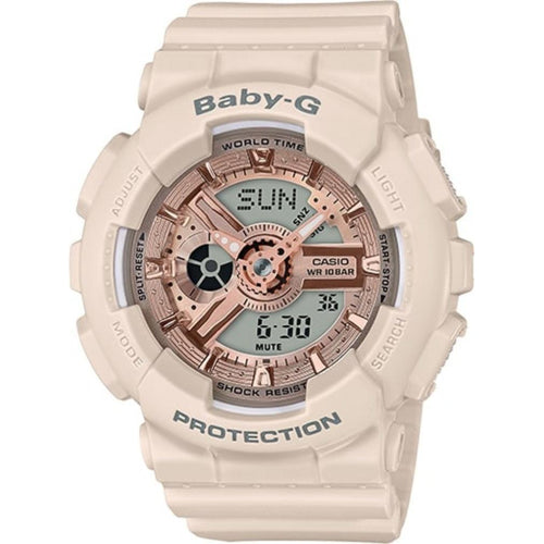 Casio Baby-G Pink Beige Ladies Watch - BA110CP-4A