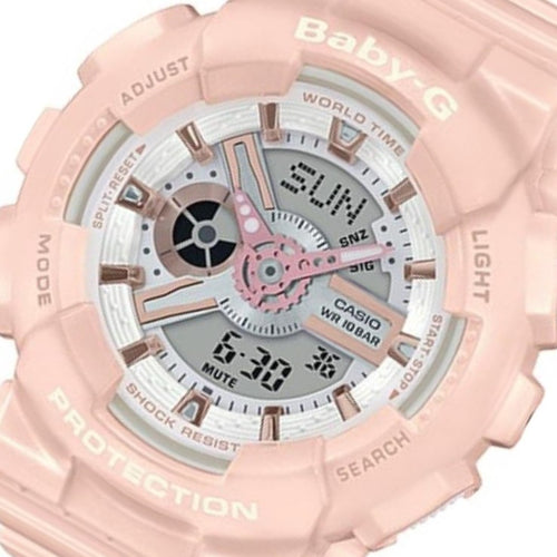 Casio Baby-G Pastel Pink Ladies Watch - BA110RG-4A