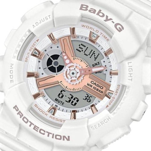 Casio Baby-G White Ladies Watch - BA110RG-7A
