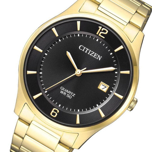 Citizen Gents Gold Stainless Steel Quartz Watch - BD0043-83E