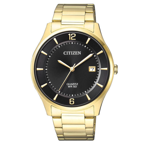 Citizen Gents Yellow & Gold Stainless Steel Quartz Watch - BD0043-83E