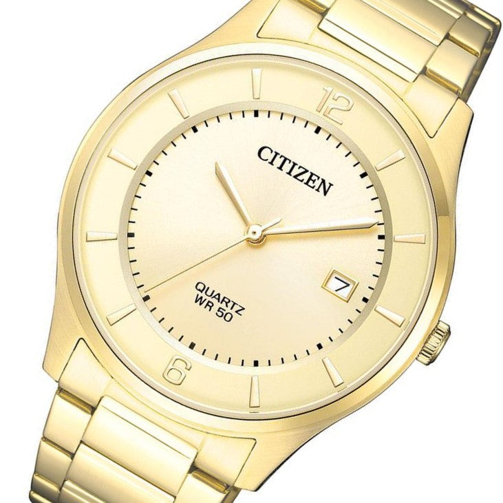 Citizen Gents Gold Stainless Steel Quartz Watch - BD0043-83P