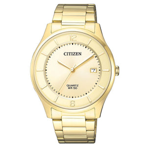 Citizen Gents Yellow & Gold Stainless Steel Quartz Watch - BD0043-83P