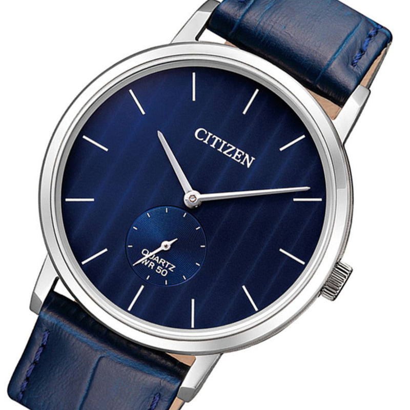 Citizen Blue Leather Men's Watch - BE9170-05L