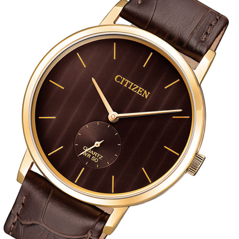 Citizen Brown Leather Men's Watch - BE9173-07X