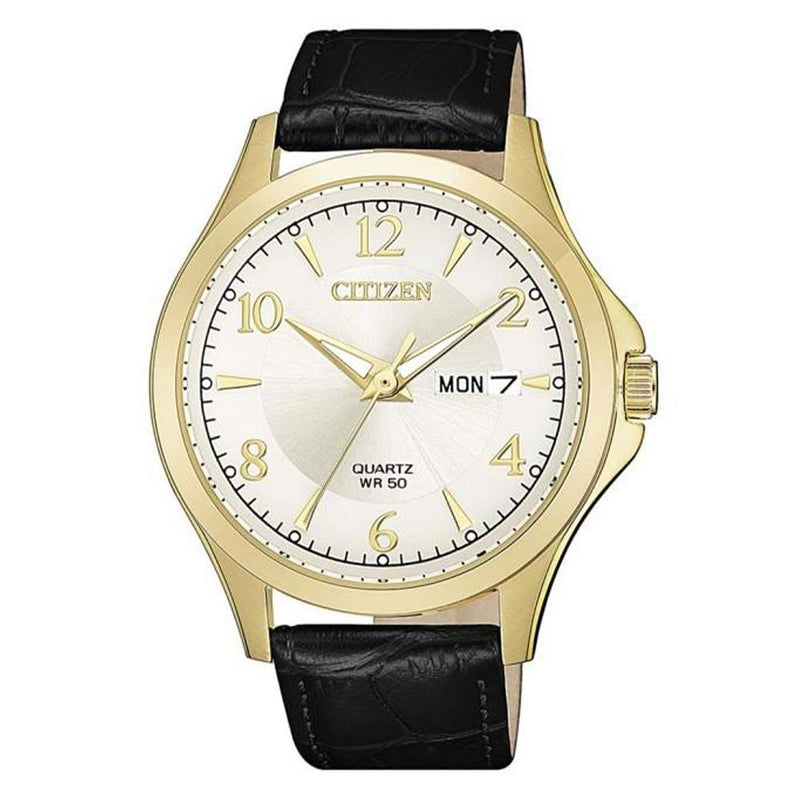 Citizen Classic Black Leather Men's Watch - Bf2003-25A