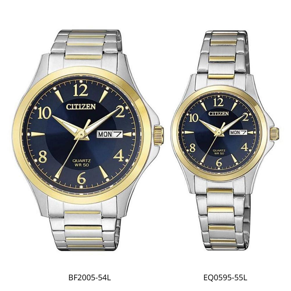Citizen Classic Two-Tone Steel Couples Watch Set - BF2005-54L and EQ0595-55L