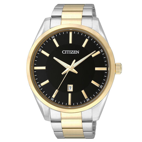 Citizen Gents Two Tone Stainless Steel Quartz Watch - BI1034-52E