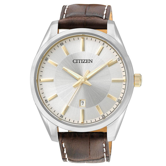 Citizen Gents White & Silver Stainless Steel Quartz Watch - BI1038-01A