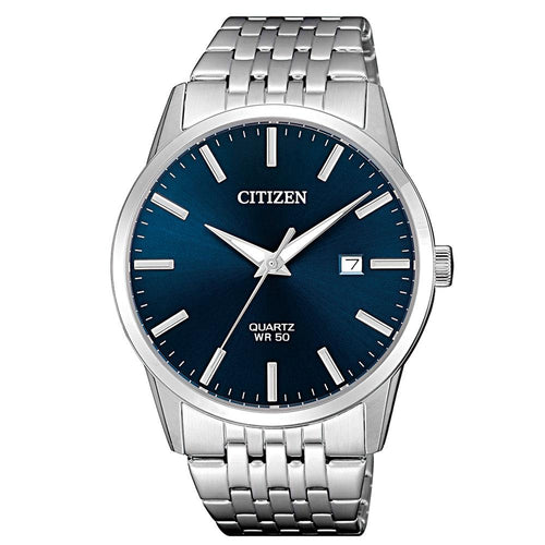 Citizen Gents White & Silver Stainless Steel Quartz Watch - BI5000-87L