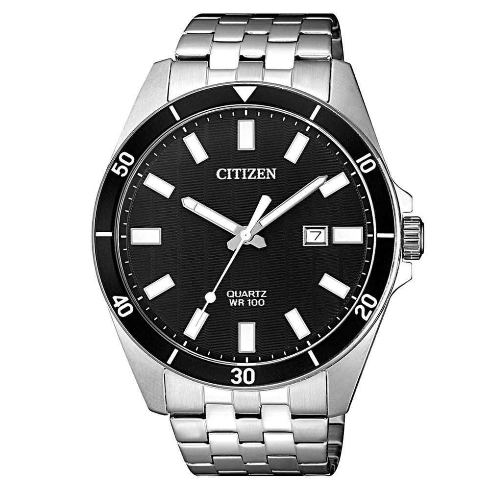 Citizen Gents White & Silver Stainless Steel Quartz Watch - BI5050-54E