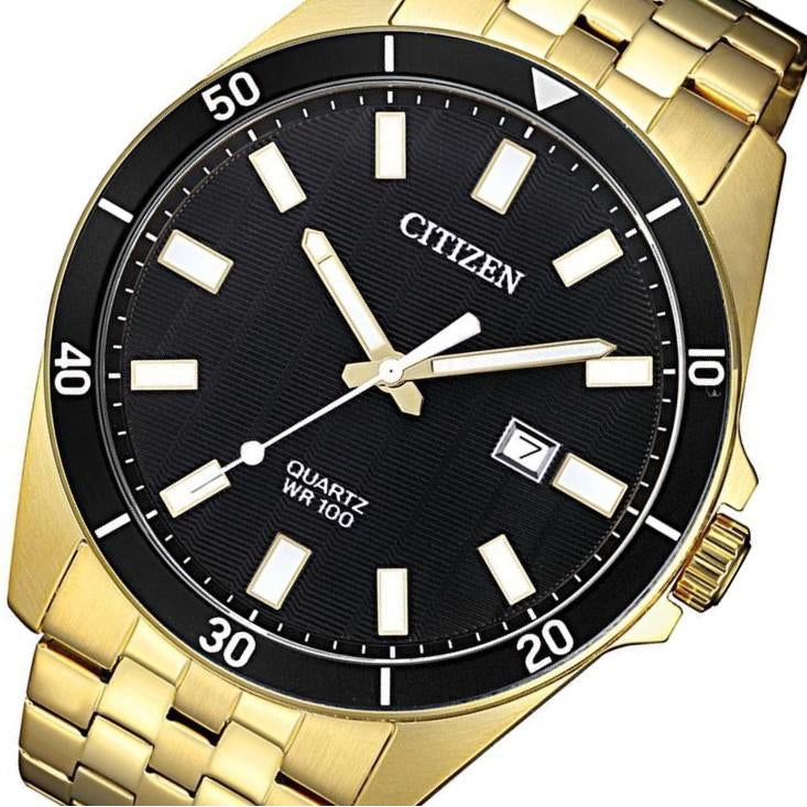 Citizen Gents Gold Stainless Steel Quartz Watch - BI5052-59E