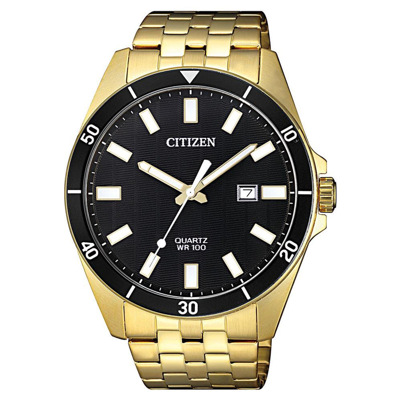 Citizen Gents Yellow & Gold Stainless Steel Quartz Watch - BI5052-59E