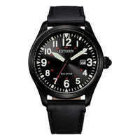 Citizen Black Leather Men's Solar Watch - BM6835-23E