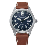 Citizen Brown Leather Men's Solar Watch - BM6838-33L