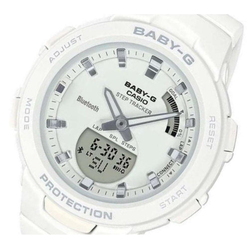 Casio Baby G Bluetooth White Digital Sports Ladies Watch - BSAB100-7A