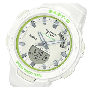 Casio Baby G Sports Step Tracker Digital Analog Ladies Watch - BSAB100SC-7A