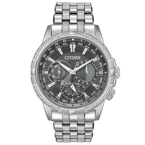Citizen Gents World Time Eco-Drive Stainless Steel Watch - BU2080-51H