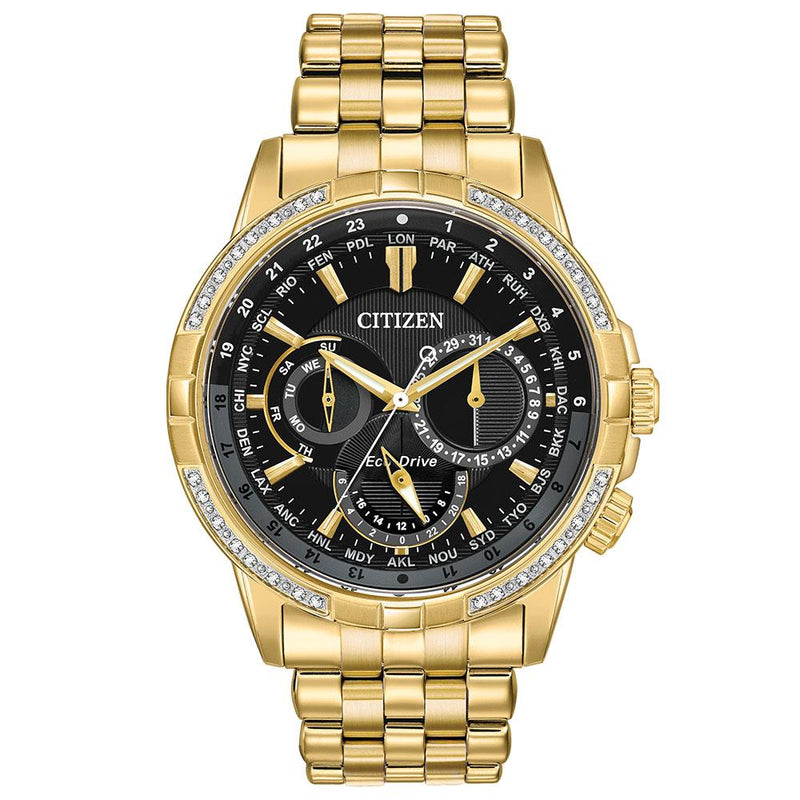 Citizen Gents World Time Eco-Drive Stainless Steel Watch - BU2082-56E