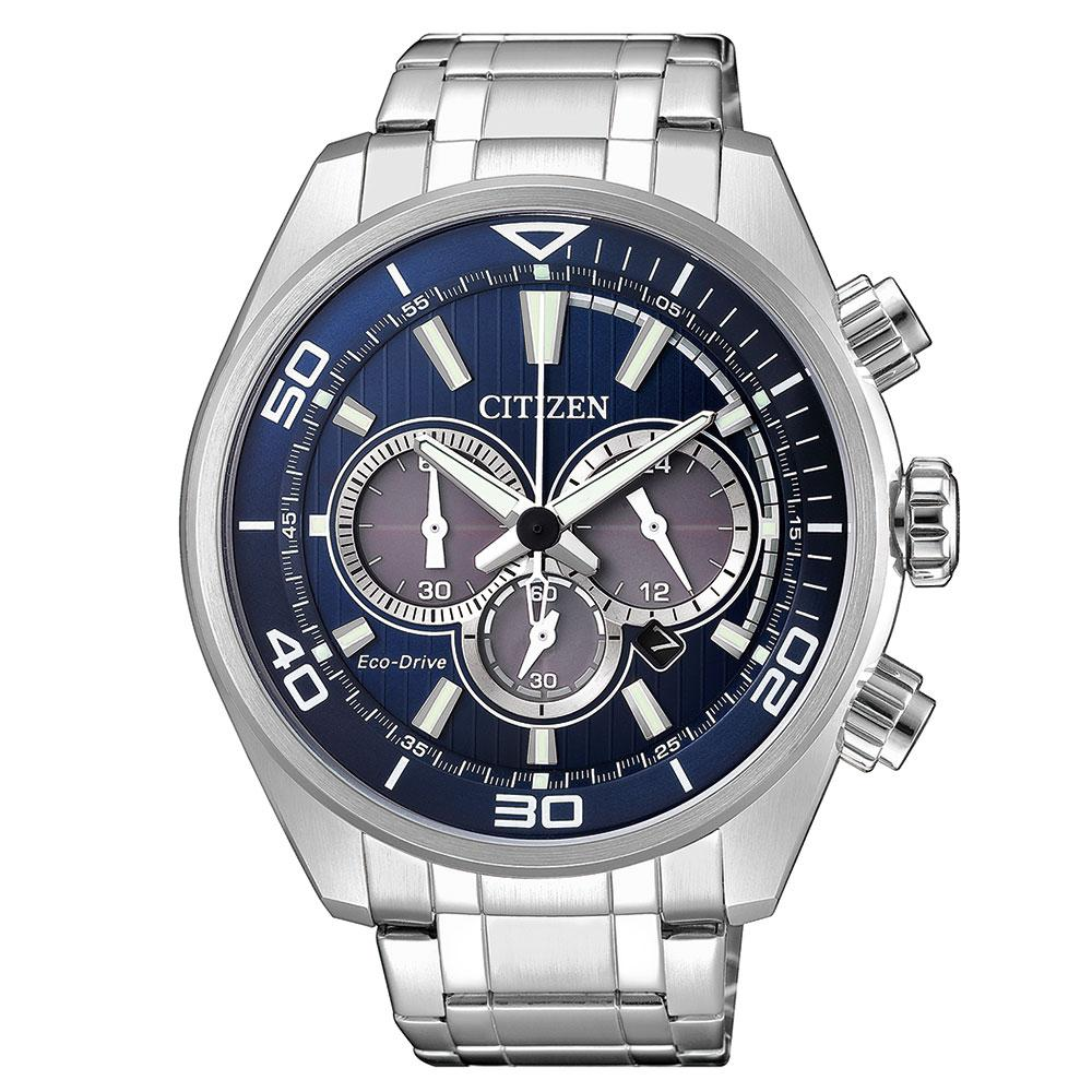 Citizen Gents Chronograph Eco-Drive Stainless Steel Watch - CA4330-81L