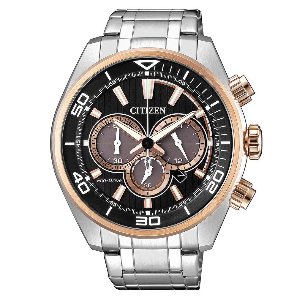 Citizen Gents Chronograph Eco-Drive Stainless Steel Watch - CA4336-85E