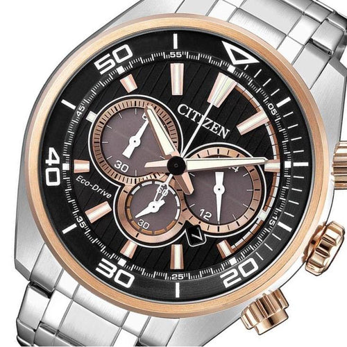 Citizen Gents Chronograph Eco-Drive Steel Watch - CA4336-85E