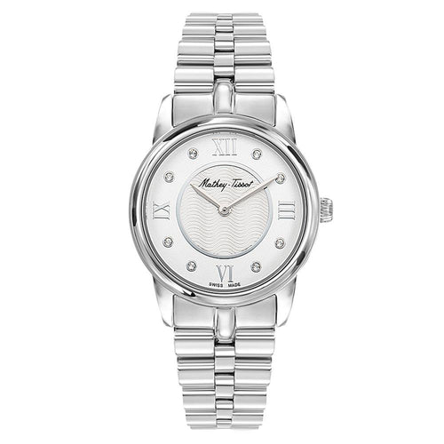 Mathey-Tissot Artemis Silver Steel White Dial Women's Swiss Made Watch - D1086AI