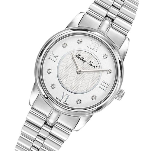 Mathey-Tissot Artemis Stainless Steel White Dial Women's Swiss Made Watch - D1086AQI