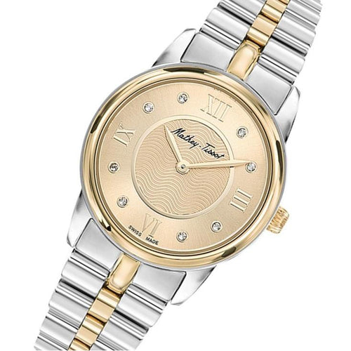 Mathey-Tissot Artemis Stainless Steel Golden Dial Women's Swiss Made Watch - D1086BDI