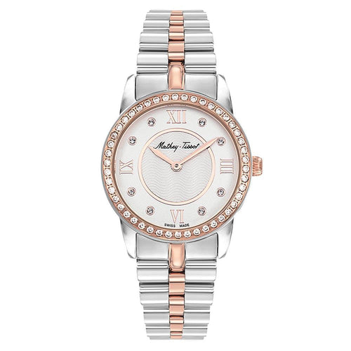 Mathey-Tissot Artemis Two-Tone Steel White Dial Women's Swiss Made Watch - D1086BQI