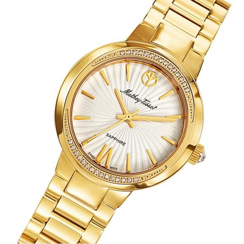Mathey-Tissot Lucrezia Gold Steel White Dial Women's Swiss Made Watch - D3082PA
