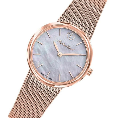 Mathey-Tissot Milly Rose Gold Mesh Women's Swiss Made Watch - D403PI