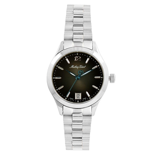 Mathey-Tissot Urban Metal Black Dial Women's Swiss Made Watch - D411MAN