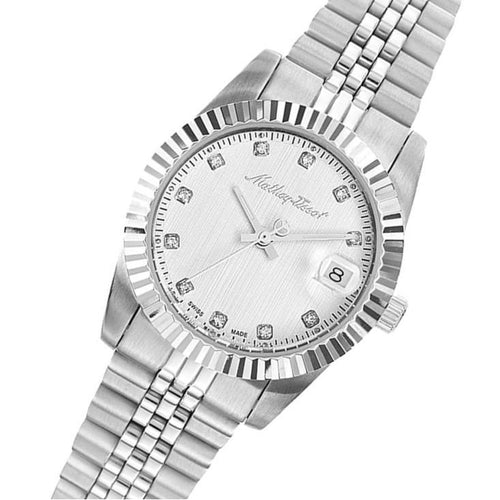 Mathey-Tissot Mathy III Stainless Steel White Dial Women's Swiss Made Watch - D810AI