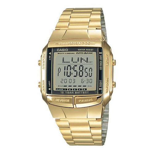 Casio Classic Gold Data Bank Illuminator Watch - DB360G-9